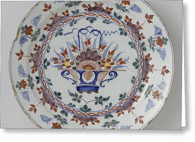 Dish Polychrome Faience, Anonymous Greeting Card by Quint Lox