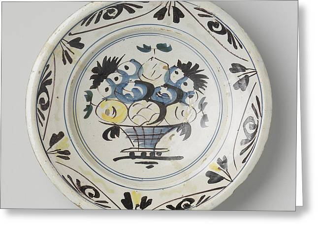 Dish Polychrome Painted Majolica, Anonymous Greeting Card