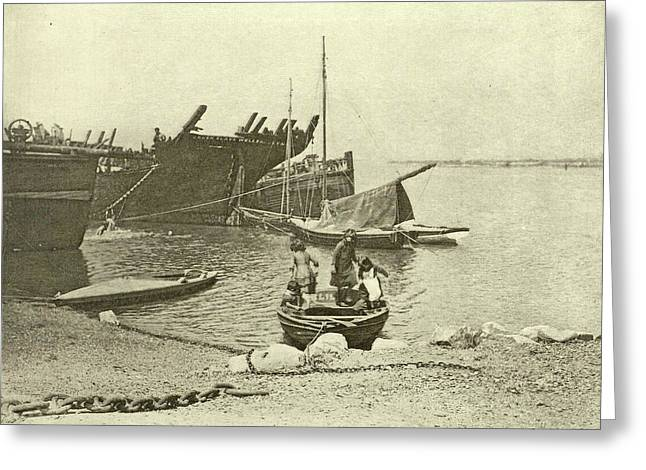 Dismantled Ships, Attributed To Peter Henry Emerson Greeting Card