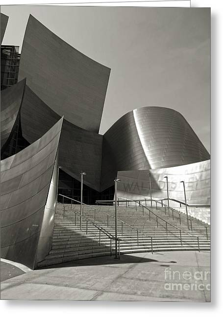 Disney Concert Hall Greeting Card by Gregory Dyer