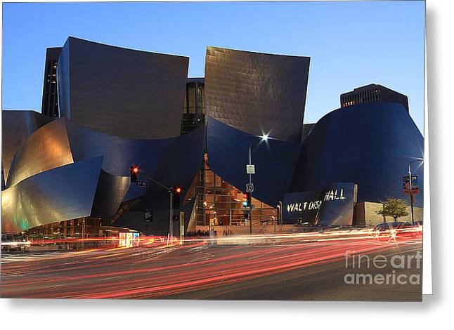 Disney Concert Hall Greeting Card by Kevin Ashley