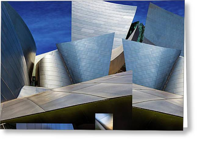 Disney Concert Hall-montage (color Version) Greeting Card