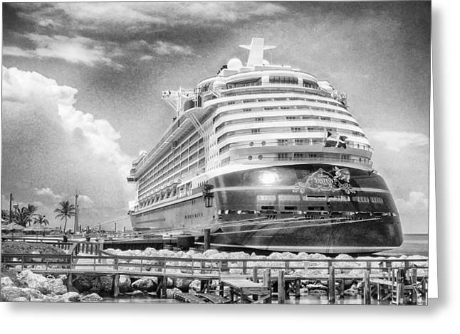 Greeting Card featuring the photograph Disney Fantasy by Howard Salmon