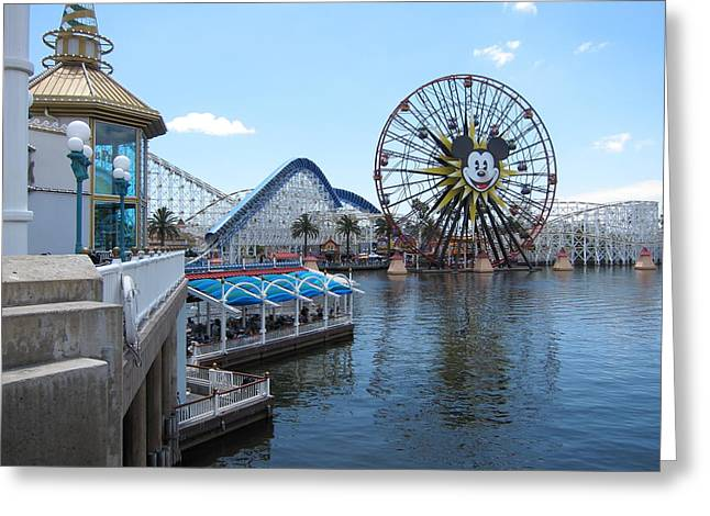 Disneyland Park Anaheim - 121253 Greeting Card