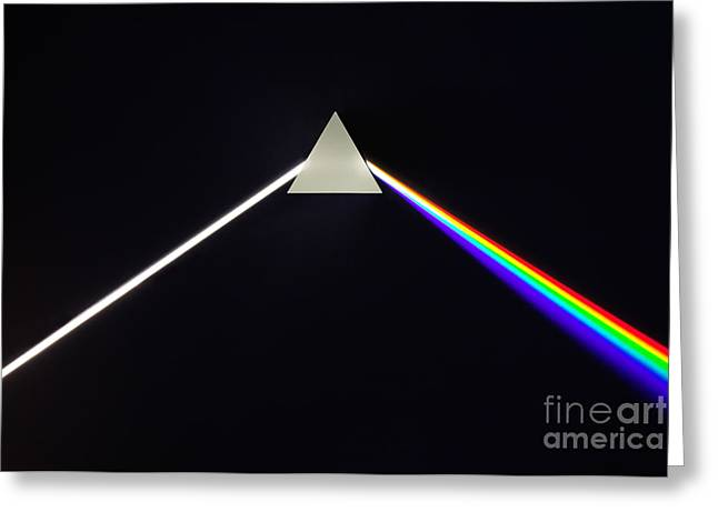 Dispersion Of White Light Greeting Card