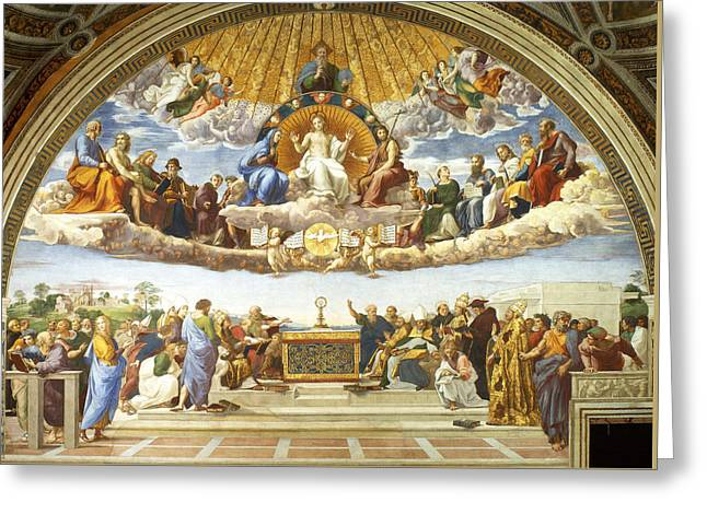 Disputation Of Holy Sacrament. Greeting Card by Raphael