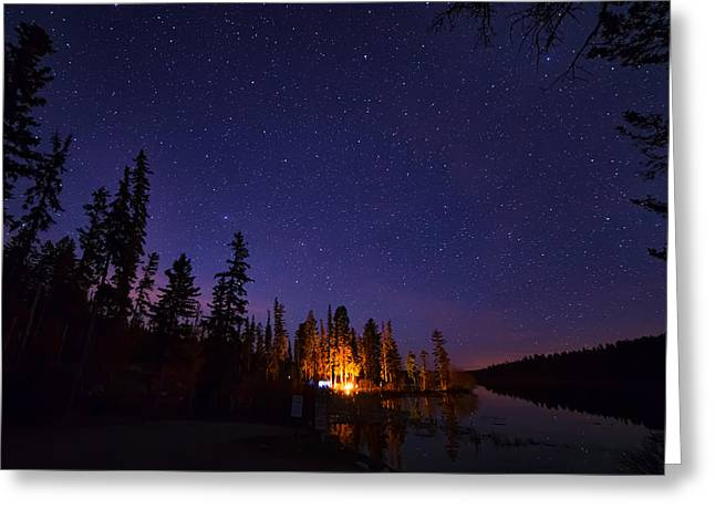 Distant Campfire Greeting Card by James Wheeler