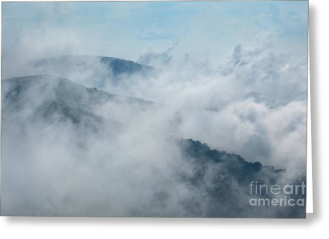 Distant Canyons - Blue Ridge Parkway Greeting Card by Dan Carmichael