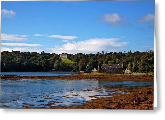 Distant Castleward House - Showing Greeting Card by Panoramic Images