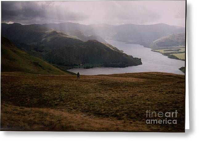Greeting Card featuring the photograph Distant Hills Cumbria by John Williams