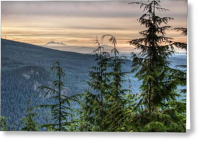 Distant Mount Baker Greeting Card