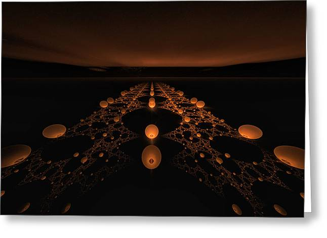 Distant Runway Greeting Card by GJ Blackman