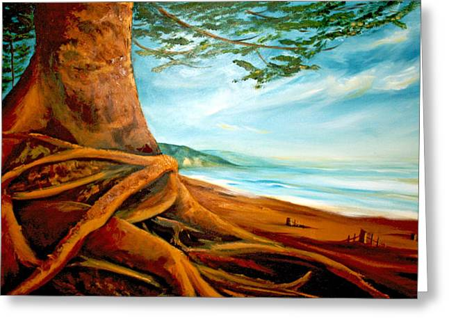 Greeting Card featuring the painting Distant Shores Rejoice by Meaghan Troup