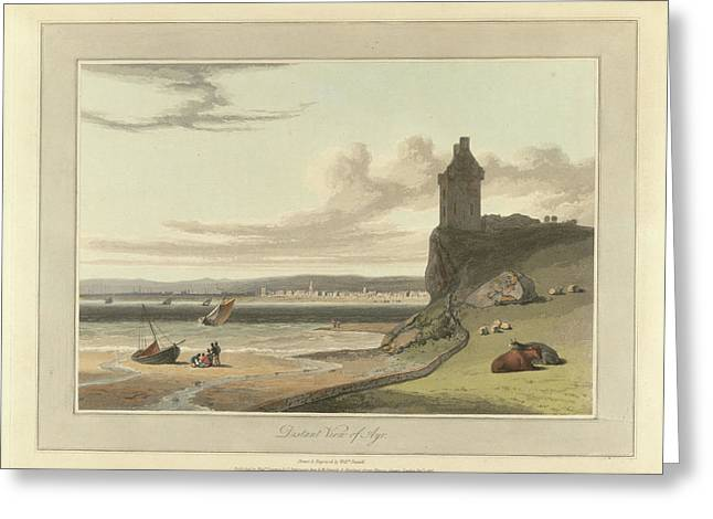 Distant View Of Ayr Greeting Card by British Library