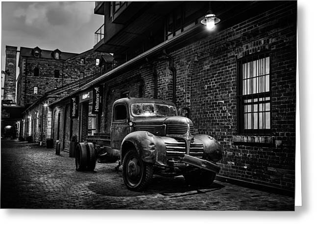 Distillery District Toronto Mono Greeting Card