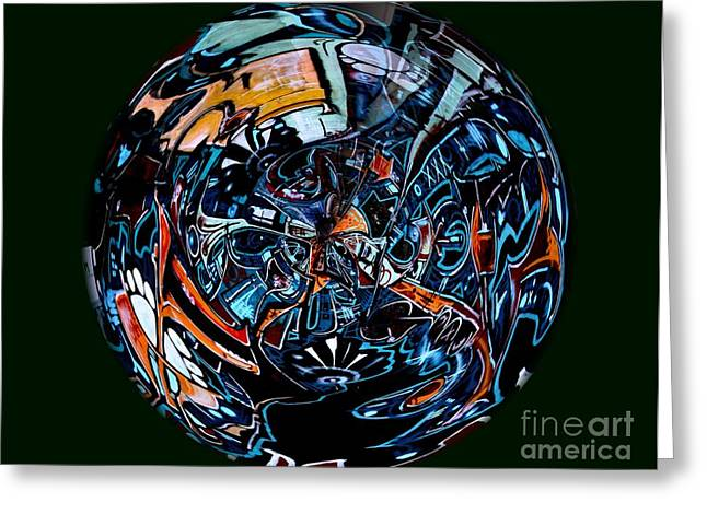 Distorted Earth - No.8345 Greeting Card by Joe Finney