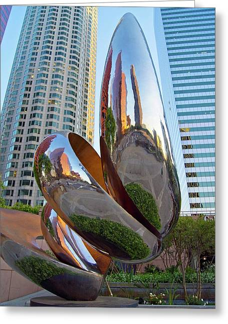 Distorted Reflections Greeting Card by Mark Williamson