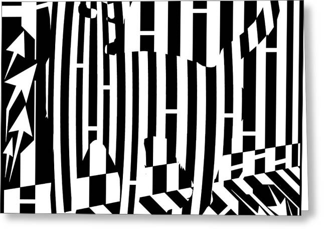 Distracted Cat Maze Greeting Card by Yonatan Frimer Maze Artist