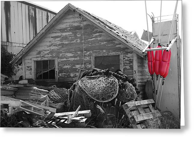 Distressed Fishery Greeting Card