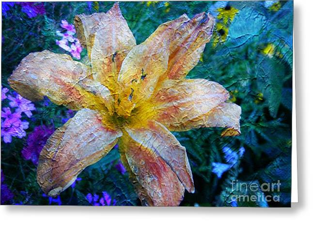 Distressed Lily Greeting Card