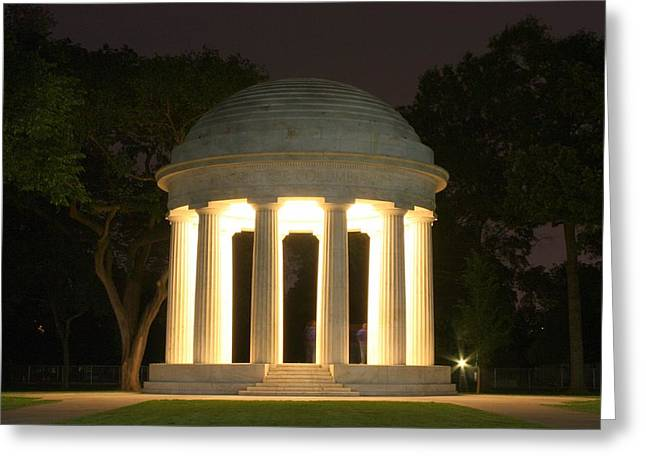 District Of Columbia World War I Memorial At Night Greeting Card