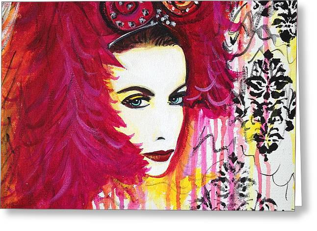 Diva Annie Lennox Greeting Card by Julie Janney