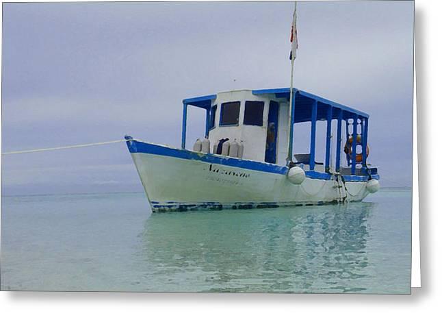 Dive Boat Greeting Card