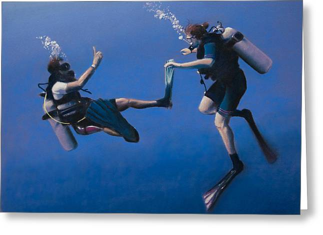 Divers Greeting Card by Christopher Reid