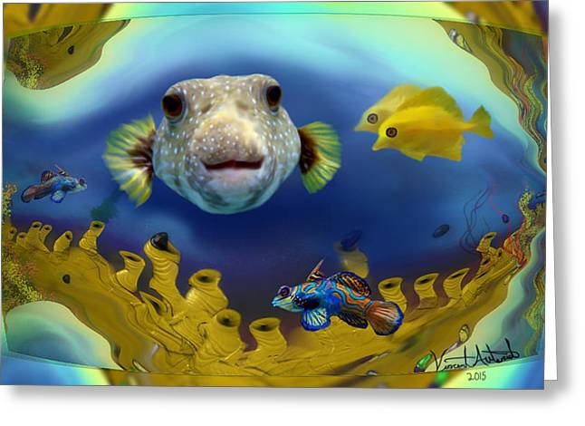 Diver's Perspective Greeting Card