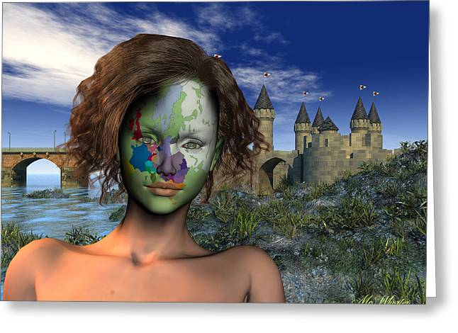 Diversity - Europe Greeting Card by Williem McWhorter