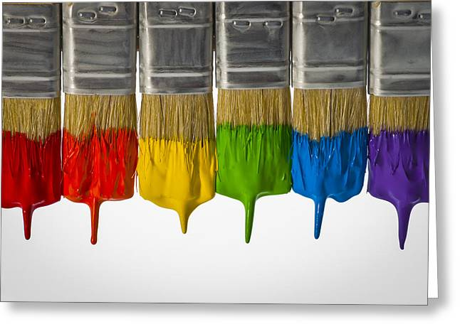 Diversity Paint Brushes Horizontal  Greeting Card