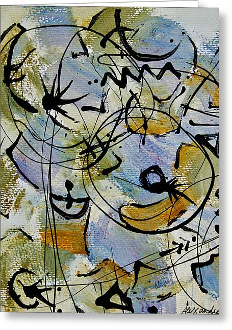 Divertimento No.15 Greeting Card by Alexandra Jordankova