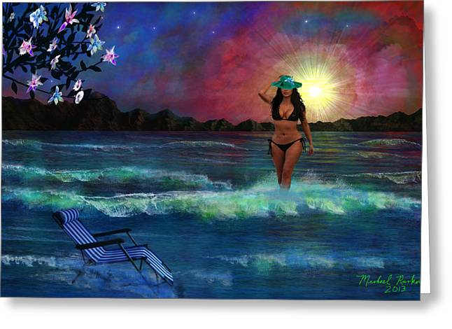 Divine Beauty Greeting Card by Michael Rucker