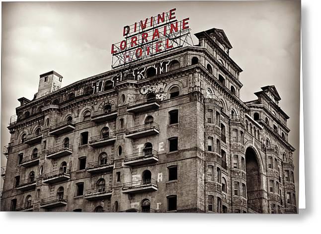 Divine Lorraine Greeting Card