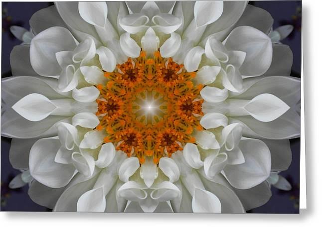 Divine Love Flower Mandala Greeting Card