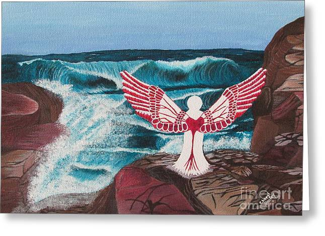 Greeting Card featuring the painting Divine Power by Cheryl Bailey