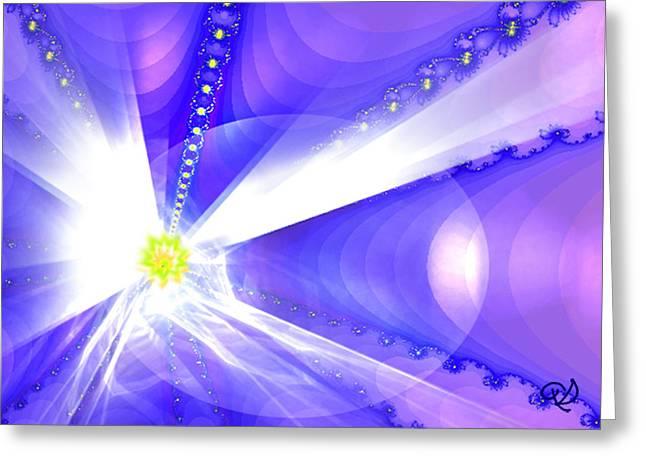 Divine Vision Greeting Card by Ute Posegga-Rudel