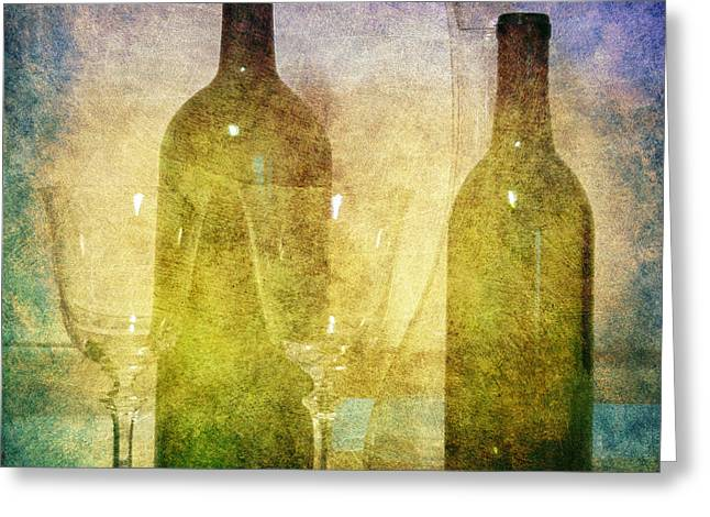 Divine Wine Greeting Card by Judy Hall-Folde