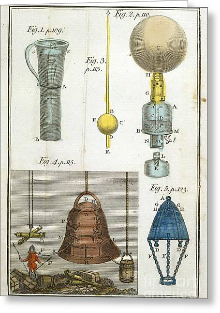 Diving Bell And Equipment, 18th Century Greeting Card by British Library