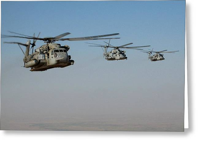Division Of Ch-53 Flying In Afghanistan Greeting Card