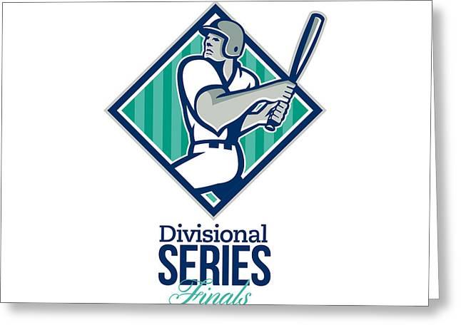 Divisional Baseball Series Finals Retro Greeting Card