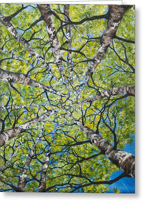 Dizzy Aspens Greeting Card