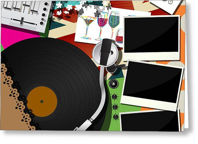 Dj Party Design Greeting Card