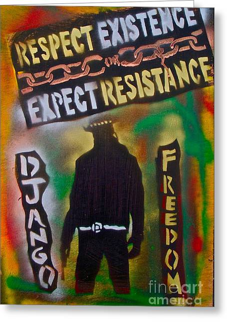 Django Resistance Greeting Card by Tony B Conscious