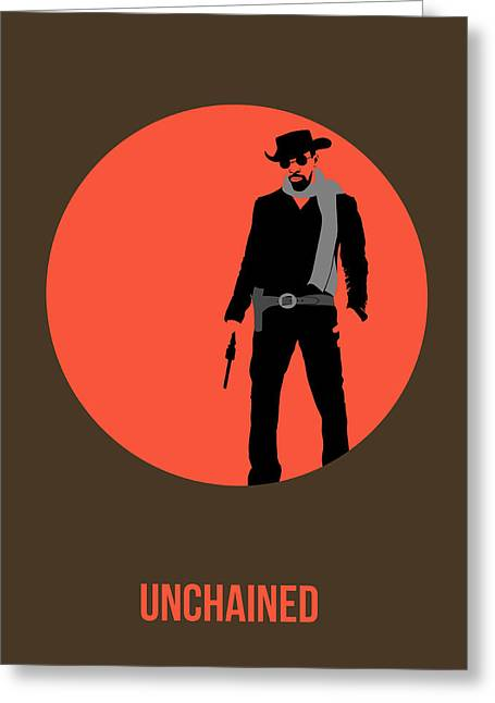 Django Unchained Poster 1 Greeting Card by Naxart Studio