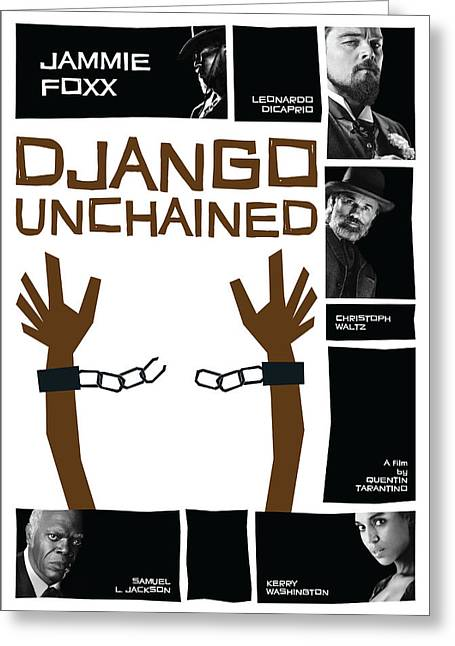 Django Unchained Poster Greeting Card