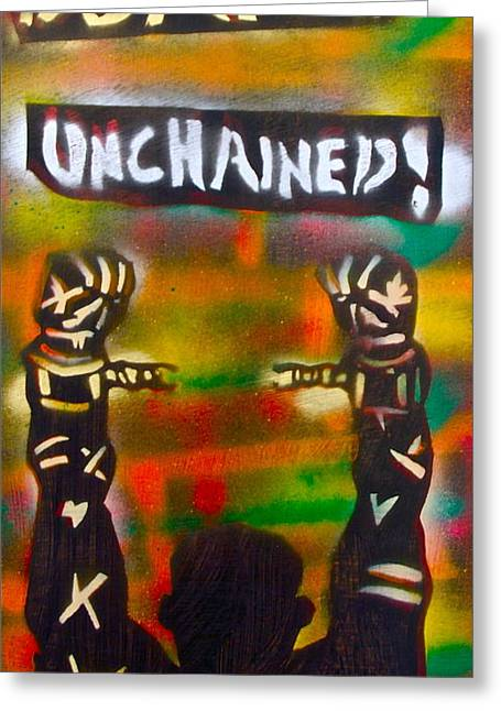 Django Unchained Greeting Card by Tony B Conscious