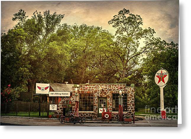 Dj's Filling Station Greeting Card by Tamyra Ayles
