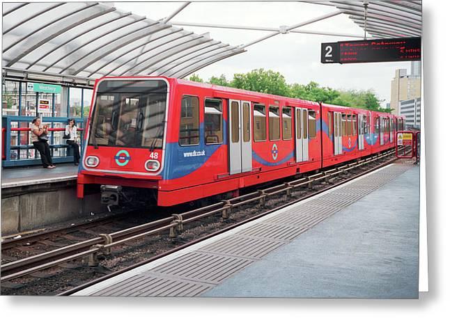 Dlr Train Greeting Card