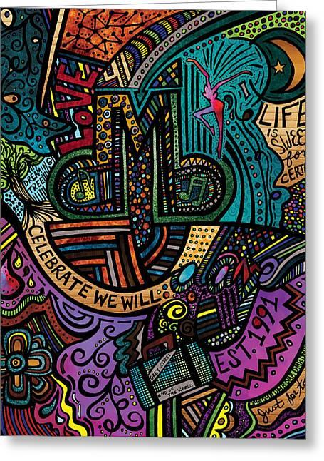 Dmb Love Greeting Card by Kelly Maddern